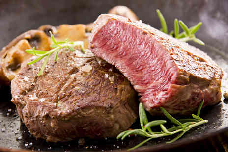 The Axis Bar and Restaurant - British rib eye steak & a large glass of wine - Save 44%