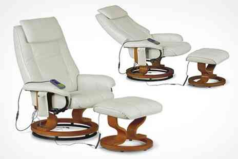 Furniture Centres - Reclining Massage Chair in Choice of Colours - Save 48%