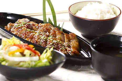 Samsi Yakitori - Seven course Japanese teppanyaki meal for 2 including a hot sake each - Save 55%