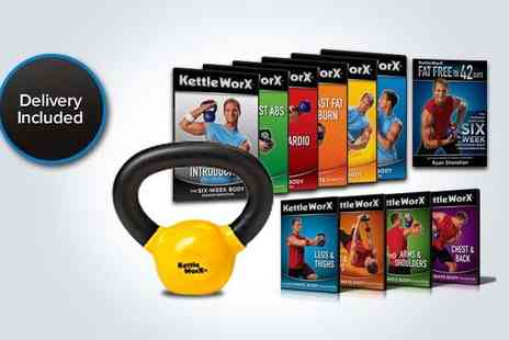 HSM - Kettleworx Ultra home fitness DVD box set and 5lb kettle bell weight - Save 51%