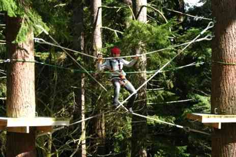 Get Wet The Adventure Company - High Ropes Course Entry For One - Save 60%