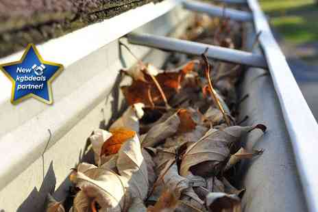So Clear - Professional gutter cleaning service for a two storey house with up to five bedrooms - Save 75%