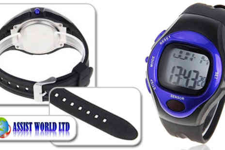 Assist World - Get fit with this heart rate monitoring sports watch from Assist World - Save 72%
