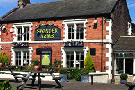 Spencer Arms - Starter and Main Course Dinner with a Glass of Wine for Two - Save 51%