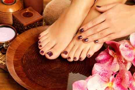 Morgan Hair and Beauty - Shellac Nails Plus Kaeso Facial - Save 55%