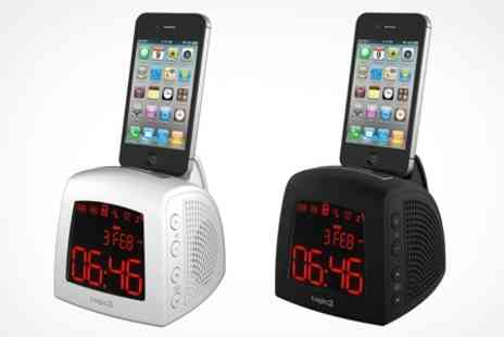 Logic3 - i Station Time Curve iPhone or iPod Alarm Clock Radio - Save 55%