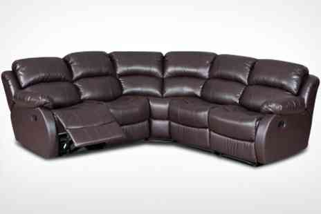 Comfy King - Milano Leather Corner Sofa - Save 57%