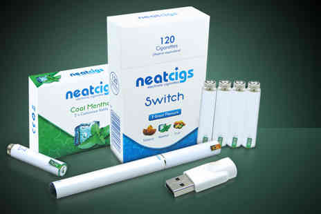 Neat Cigs - An electronic cigarette kit with 5 refills - Save 67%
