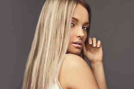 Glowing Salon Hair - Half head of highlights or a full head of colour, wash, cut, blow dry and luxury hair treatment - Save 76%