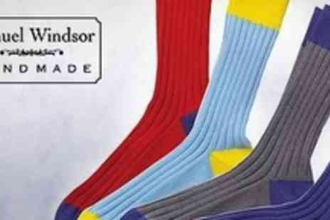 Samuel Windsor - Six Pairs of Cotton Socks - Save 74%