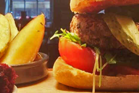 Dish Dining Room - Two Burgers Served with Thyme Baked Wedges - Save 60%