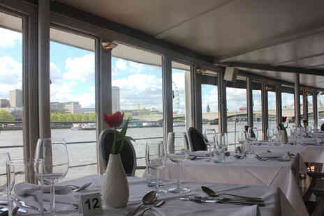 The Yacht London - Three course meal for 2 on board the 126ft luxury steam yacht  - Save 52%