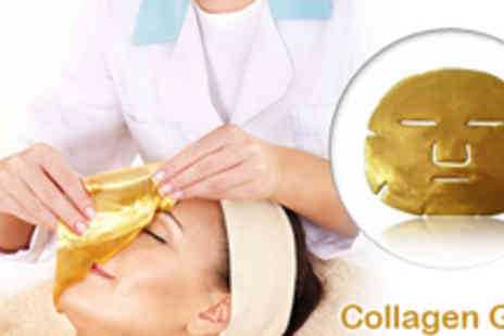 World of Skincare - 4 Collagen Gold FaceMasks - Save 83%