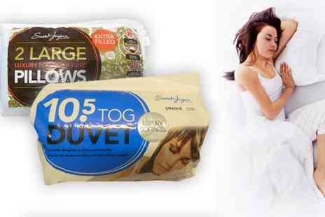 The Towel Shop - Single Duvet and Pillows 700gm - Save 60%