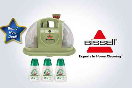 Electrics Warehouse - Bissell 30K4E Little Green emergency spot cleaner with three Little Green Cleaner double concentrate solutions - Save 51%