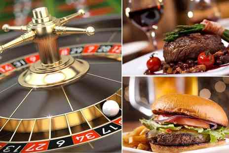 Gala Casino - Main course, dessert and glass of wine or pint of Becks for two people plus - Save 50%