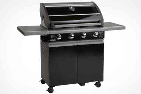 Hayes Garden World - Two Burner Grill steam Gas BBQ - Save 38%