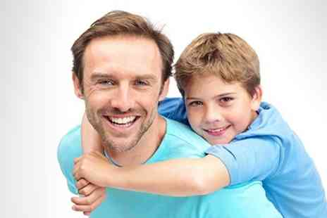 The Picture Company - Father and Son Photoshoot With Canvasses - Save 88%