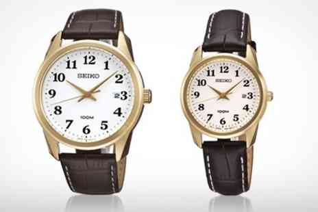 Watch Warehouse - Ladies Seiko Leather Strap Watch With Free Delivery - Save 50%