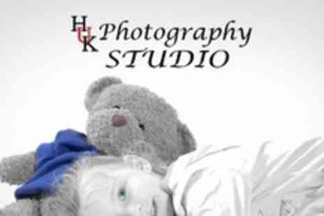HUK Photography - One Hour Portrait Photo Shoot Plus Two 5x7 Mounted Prints and Two Digital Media Images - Save 90%