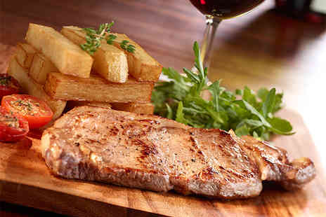 The Swan Inn - Steak dinner for 2 including a glass of wine - Save 45%