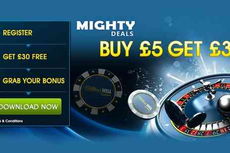 William Hill - Tons of games to play including classic roulette, jacks or better and casino - Save 83%
