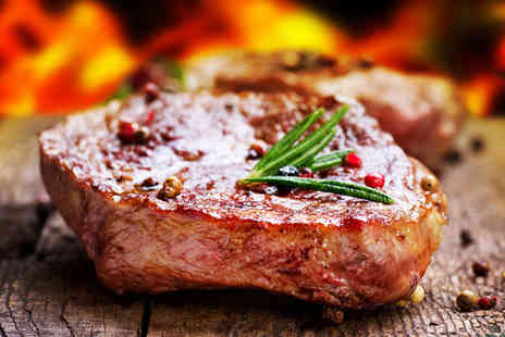 New York Cut - A two course steak dinner for 2 including a glass of wine - Save 51%