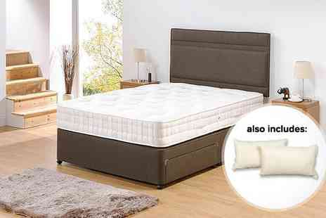 SleepyKing - A small double 4 1000 pocket memory mattress and two memory pillows - Save 64%