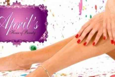 Aprils House of Beauty - Luxury Manicure With CND Shellac Gel Overlays and OPI Pedicure - Save 65%