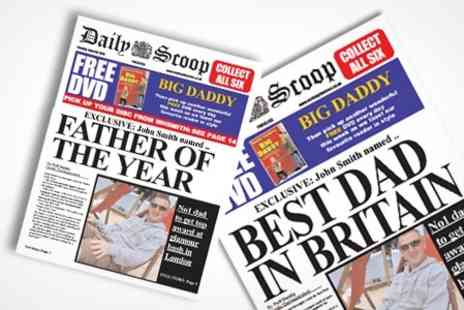 Scooped - Spoof Newspaper With Personalised Front Pages - Save 50%
