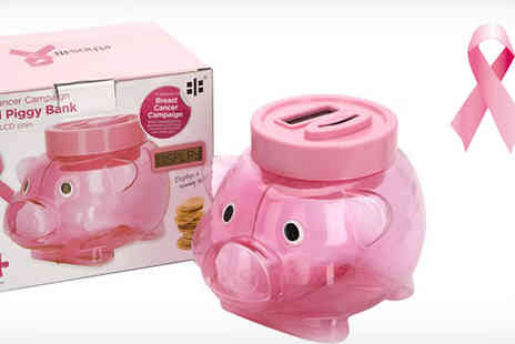 Inspire Home -  Breast Cancer Digital Piggy Bank - Save 47%