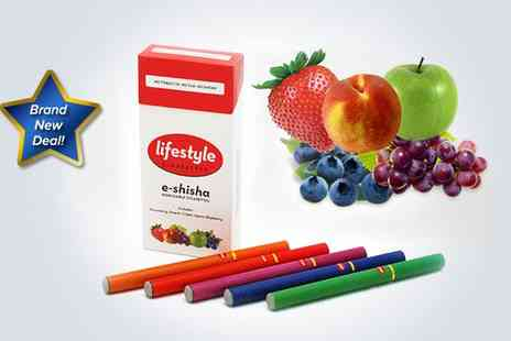 Lifestyle Cigarettes - A set of five fruit shisha electronic cigarettes - Save 85%