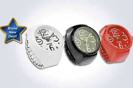 Love Crystal - A quirky ring watch in red - Save 40%