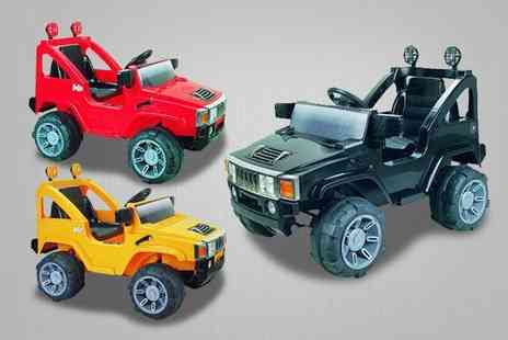 Guaranteed4less.com - A black kids ride on electric powered Hummer style jeep - Save 21%