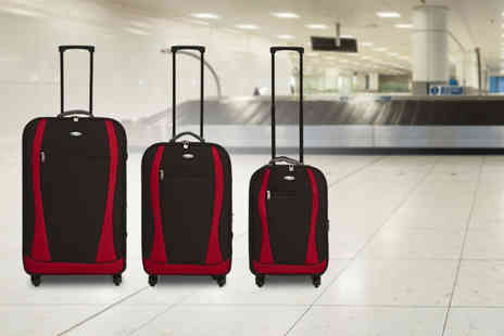 Easygift Trading - Three piece Travelight 4 wheel spinner suitcase set - Save 40%