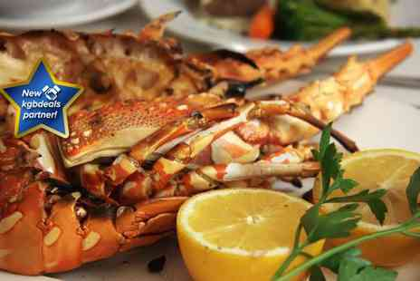 Hidden Treasure - Half a lobster cooked in a garlic, chilli and white wine sauce for two people each - Save 37%