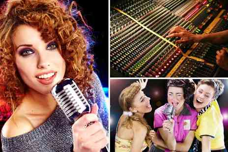 Star for a Day - Karaoke recording studio party for up to 10 people including a master CD - Save 83%