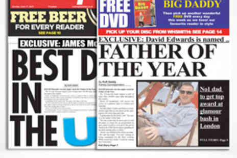 Scooped - One Personalised Fathers Day Newspapers - Save 50%