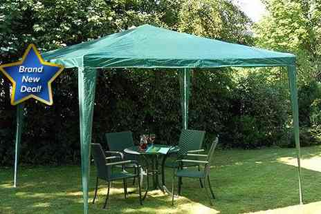 Better Bargains - 2.4m x 2.4m green garden gazebo - Save 50%