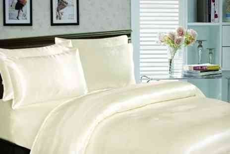 Textiles Direct - Six Piece Satin Bedding Set - Save 53%