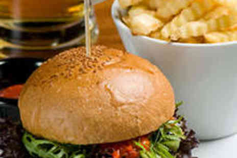 Oscars Champagne Cafe - Two Gourmet Home Made Beef or Chicken Burgers - Save 50%