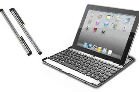 Accessorise my mobile - Aluminium Bluetooth iPad Keyboard - Save 58%