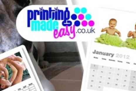 Printing Made Easy - Create two personalised A4 calendars - Save 57%