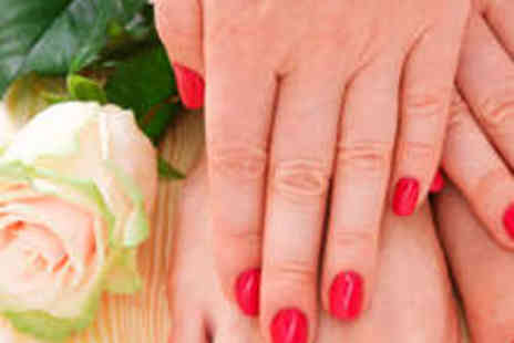 J'Adore Nails - Shellac Manicure and Pedicure - Save 68%
