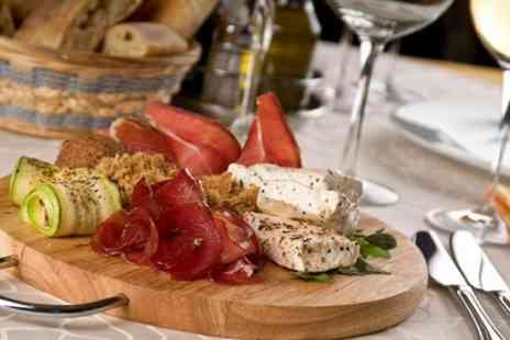 The Treehouse Dinner - Mediterranean Sharing Platter With Wine For Two - Save 51%