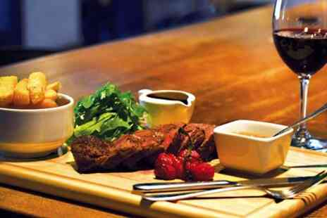 The Chequers - Aberdeen Angus Steak With Australian Shiraz Wine For Two - Save 54%