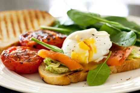 Dr Foxs Tearoom - Eggs on Toast With Smoked Salmon For Two - Save 64%