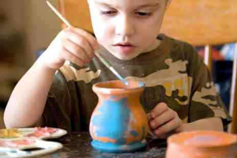 The Button Boutique - Messy Clay Pots Workshop For Parent and Child - Save 40%