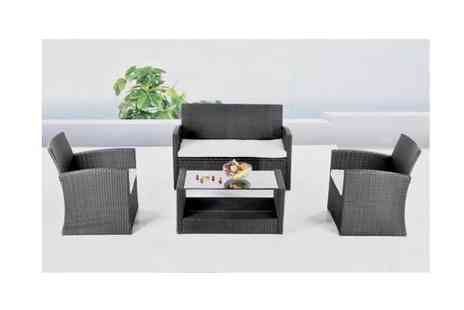 Easy Gift Products - Barcelona Rattan 4 Piece Lounge Furniture Set - Save 8%