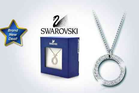 Brand Arena - Luxury Swarovski marshmallow pendant and necklace - Save 50%